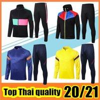 20/21 Fußballjacke Kids Training Anzug del Chandal 2020 2021 Männer Camiseta de Futbol Jogging Soccer Trainingsanzug