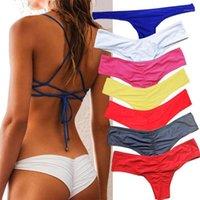 Kadın Mayo Külot Bikini Alt Yan Bağları Brezilyalı Tanga Mayo Klasik Kesim Dipleri Biquini Yüzmek Kısa Bayanlar Swimsuit1