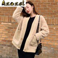 Pelliccia femminile Faux Real Streetwear 100% Giacca in lana Autunno Cappotto Cappotto Inverno 2021 Le donne d'epoca coreano Top Abrigo Mujer ZT3615