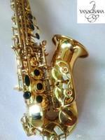 Yanagisawa Logo SC-WO10 Изогнутые сопрано Саксофон Золотой Лак Латунный Сакс Профессиональный мундштук Патчи Падс Ридс изгиб шеи Sax
