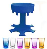 6 atış cam dağıtıcı tutucu şarap viski bira dağıtıcı raf bar dağıtıcı parti oyunları içme çubuğu araçları t3i51555