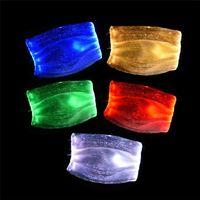 Maschera Moda splendente di PM2.5 filtro 7 colori luminosi LED viso maschere per il festival Festa di Natale Masquerade Mask Rave Decoration DHF2566