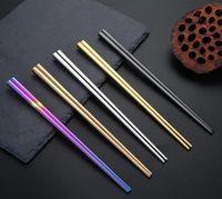 304 aço inoxidável chapeamento de vácuo colorido pauzinhos quadrados de boa qualidade Arco-íris de ouro preto pauzinhos por atacado byqmzn