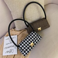 Brand Houndstooth Small Flap Women Shoulder Bags High Qualit...