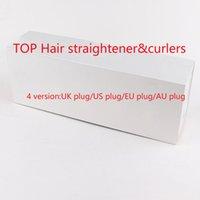 Saç Düzleştirici ve saç styling için saç styling 2 in 1 Turmalin Seramik Düzeltme Saç Dönen Sesli Sıcaklık