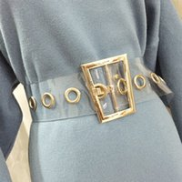 زائد الحجم حزام شفاف السيدات الخصر أحزمة واضحة للنساء شبه منحرف الذهب مشبك واسعة مشد cummerbunds حزام اللباس الكبير 2020 LJ200921