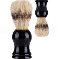 Badger hombres de pelo Brocha de afeitar del peluquero del salón de los hombres facial herramienta Shave aparato Limpiar la barba de los hombres cepillo de limpieza barba EEE2678