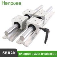 2 шт. SBR20 Линейная направляющая длина линейных подшипников с 4штс SBR20UU CNC маршрутизатор Par 300 мм линейной направляющей