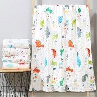 Manta de bebé swaddling recién nacido gasa suave manta sólido juego de ropa de cama de algodón 6 capas de toalla de bebé LJ201204