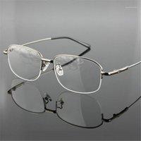 نظارات شمسية إطارات بالجملة - الذاكرة التيتانيوم النظارات نصف سبائك الإطار النظارات البصرية الرجال النساء الرجعية نصف إطار وصفة إطارات 1