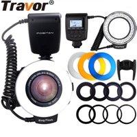 Lampeggia lampada a macro-flash RF-550E Lampada a LED Flash RF-550E con 4 diffusori e 8 anelli adattatore per MINOLTA1