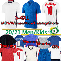 England soccer jersey Kane Soccer Jerseys Européenne 2020 2021 National Team League Rashford Dele Sterling Accueil Blanc Blue Mout de football Hommes 4XL