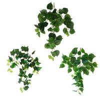 5 штук искусственное моделирование ротанга листьев зеленый редька рептилий пластиковый поддельный цветок зеленый лист сад открытый стены украшения стены
