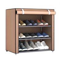 الملابس خزانة التخزين nai يوي الغبار حجم كبير غير المنسوجة النسيج الأحذية الرف منظم المنزل نوم عنبر حذاء رفوف الجرف المقصورة