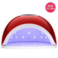 Viinuro 66w Secador de uñas con 33 LED para curar la lámpara de hielo UV de la uña All para la herramienta de arte LED de diseño de manicura Lámpara LED