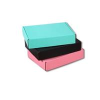 Vente chaude Boîtes de papier ondulés Color Cadeau Emballage Pliage Boîte carrée Boîte à emballage carré Joewelry Boîtes de carton 15 * 15 * 5cm 105 N2
