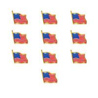 Bandera americana gota pegamento broche insignia mariposa hebilla accesorios de equipaje 10pcs / lotes