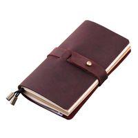Notepads Handmade Traelers Notebook إعادة الملء، مجلة السفر الجلود، مذكرات حقيقية مجلة الرجعية، 3 إدراج / 192 صفحة