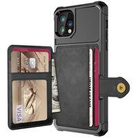 Funda de billetera de cuero de lujo de PU para iPhone 12 Pro Max Iphone 12 Mini Casos Billetera Flip Cover Hebilla para iPhone Teléfono 12 Fundas