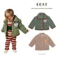 Pre-sale 2020 autumn and winter new children's lapel lamb velvet brushed jacket boys and girls corduroy jacket LJ201124