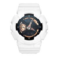 2020- 새로운 스타일 남성용 새로운 시계 남성용 야외 시계 스포츠 흡수 남자 LED 디지털 쿼츠 시계 선물 소년 100 오크 시계