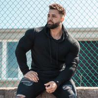 Nouveaux Sweaters à capuchon à capuchon de printemps Hommes Coups de turtleneck Slim Fit Fit Sports Pullover Hommes Sweater Gym Homme Pull Homme