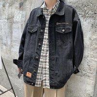 Giacche da uomo 2021 Uyuk Fall's Collegiate Instagram Fashion Student Denim Giacca da uomo ricamato vestiti hip hop1