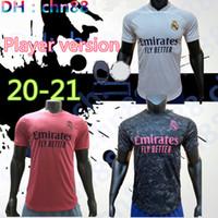 Versão do jogador Real Madrid Jersey 20 21 Hazard Sergio Ramos Futebol Jersey Benzema Vinicius Camiseta Camiseta Jersey Camisa Camisa Uniformes 2020 2021