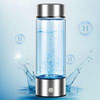 Верхний портативный ионизатор для генератора водорода для чистого H2 богатой бутылки с водой Электролиз Электролизовый Hidrogen 420ML Alpeat1 бутылки