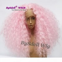 Partie libre dentelle frontale frontale synthétique bébé couleur couleur cheveux gros perruques avant pour femme dragen