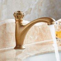 Badezimmer Waschbecken Wasserhaare Hohe Qualität Messing Klassischer Einhebel 1-Loch-Waschbecken Wasserhahn Mischer Tap Bronze gebürstetes Finish