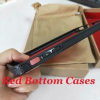 Модные кроссовки дизайнеры красный нижний чехол для iPhone 11 Pro 12 Mini 7 Plus 8 плюс X XR XS MAX дизайнер силиконовые чехлы Coque Fuda