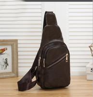 고품질 수제 패션 남자 슬링 가방 크로스 바디 메신저 가방 4 색 야외 여성 허리 가방 팩 가슴 가방
