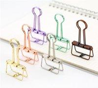 홈 오피스 학교 문구에 대한 청동 해골 바인더 클립 중공 아웃 긴 용지 사진 클립 플래너 노트북 Clipers