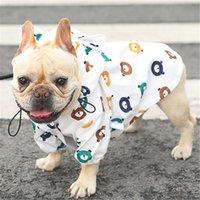 Perro de mascota impermeable del barro amasado del dogo francés de ropa Ropa impermeable para la lluvia del perro de caniche de la chaqueta de Bichon Schnauzer Welsh Corgi del impermeable