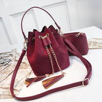2020 New Mini Crossbody Handbags Cute Suede Bucket Bag Organ...