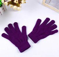 Унисекс зимние вязаные перчатки мода взрослый сплошной цвет теплые перчатки открытый женщина теплые лыжи варежки XM JLLLELC HOME003