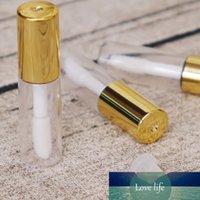 5 Pcs 1.2ML Empty Transparent PE Lip Gloss Tubes Plastic Lip Balm Tube Lipstick Mini Sample Cosmetic Container With Gold Cap New