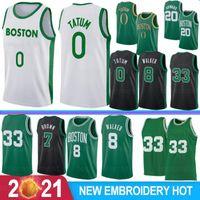 NCAA Kemba 8 Walker Men College Basketball Jerseys Jayson 0 Tatum Gordon 20 Hayward Jaylen 7 Brown Larry 2020 New Jerseys S-XXL