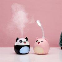 Luftbefeuchter Fan Aroma ätherisches Öl Diffusor USB mit LED Mini Nachtlampe für Home SPA Auto Nebel 220ml Spray Aromatherapie SD 201009