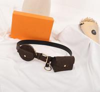 الفاخرة مصمم المرأة اليومية متعددة جيب 30 ملليمتر حزام المرأة حزام حقيبة M0236U حزام حقيبة عملة محفظة الخصر حقيبة مضحك حزمة مع مربع
