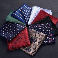 Lenços scarf xale bolinhas pequenas flor poliéster de seda de seda de seda lenço de bolso quadrado quadrado de baile de festa de casamento de casamento hankies