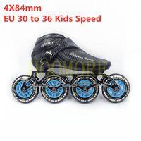 Cityrun 84mm 4 륜 inlinly 슬라럼 FSK 스트리트 스케이트 신발 4x84mm 프레임 및 84A 롤러 스케이트 타이어 키즈 EU 30-36 CT 속도