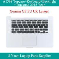 """Hakiki 15.4 """"A1398 Alman Klavye 2020 Pro 15 inç için Topcase Kılıf A1398 Klavye Arka Işık Aydınlatmalı Trackpad TouchPAD1"""