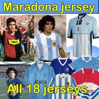 4xl Maradona Napoli Retro Fútbol Jersey Naples Napoles Maglia Maradona Jerseys Newells Maillot 1986 Argentina Hombres + Kits Kits Camisetas de fútbol