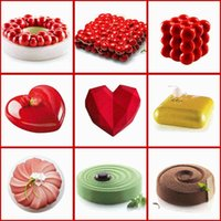 Cake Decorating Mold 3D Silicone Molds Baking dish Tools For Heart Round Cakes Chocolate Brownie Mousse Make Dessert Pan1