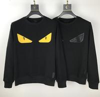 YY Tasarımcı Hoodie Kazak Erkek Kadın Pamuk Kazak Hoodie Moda Uzun Kollu Siyah Gözler Baskı Kazak Hoodies Streetwear Sweatershirt