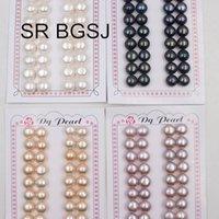 Spedizione gratuita SR 10-11mm 16 Pairs Mezza foro perline perline perline super lucentezza allentato perline perla d'acqua dolce naturale T200507