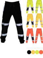 Yeni Sıcak Moda Erkekler Çalışma Yüksek Görünürlük Casual Cep Çalışması Casual Pantolon Pants Sonbahar Pantolon # G30 tulumlar