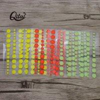 Qitai Esmalte Dot Sticker Açúcar polvilha resina auto-adesiva Assorted para DIY Scrapbooking Cartão de fotos Decoração ES0551